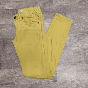 Free People Yellow Denim Jeans